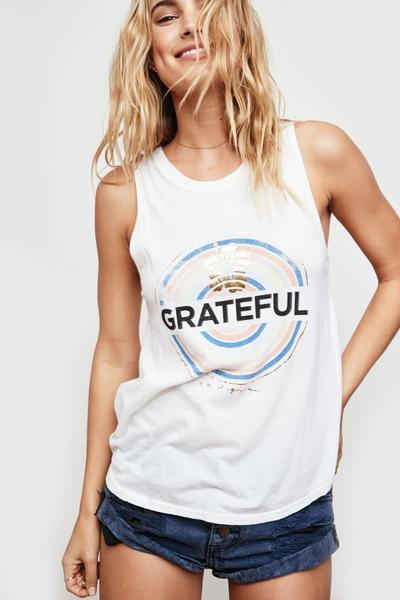 Spiritual Gangster Grateful Medallion Muscle Tank
