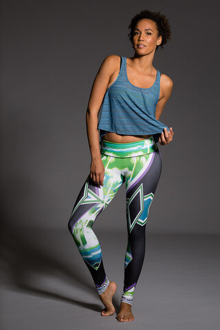 ONZIE Graphic Legging Palm Sunset